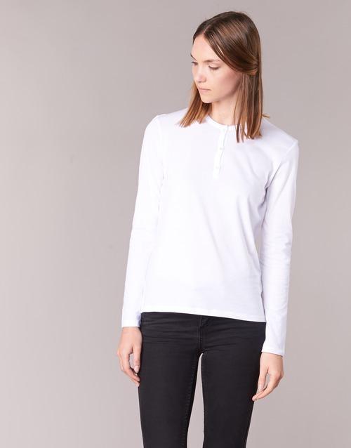 tekstylia Damskie T-shirty z długim rękawem BOTD EBISCOL Biały