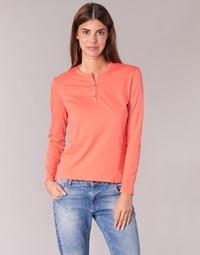 tekstylia Damskie T-shirty z długim rękawem BOTD EBISCOL Pomarańczowy