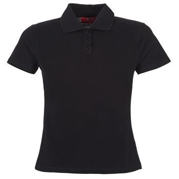 tekstylia Damskie Koszulki polo z krótkim rękawem BOTD ECLOVERA Czarny