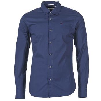 tekstylia Męskie Koszule z długim rękawem Tommy Jeans KANTERMI Marine