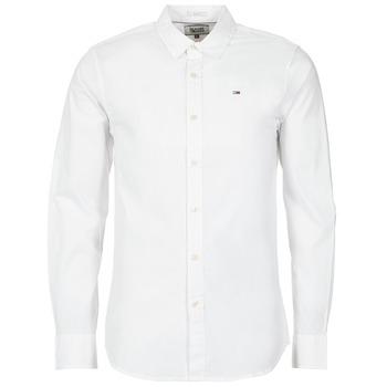 tekstylia Męskie Koszule z długim rękawem Tommy Jeans KANTERMI Biały