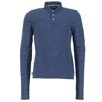 tekstylia Męskie Koszulki polo z długim rękawem Tommy Jeans KORIKO Niebieski