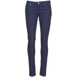 tekstylia Damskie Spodnie z pięcioma kieszeniami Element STICKER Niebieski