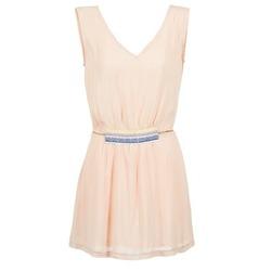 tekstylia Damskie Sukienki krótkie Moony Mood EARINE Różowy