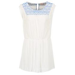 tekstylia Damskie Sukienki krótkie Moony Mood EBENE Biały