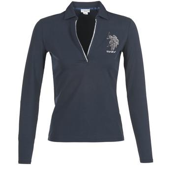 tekstylia Damskie Koszulki polo z długim rękawem U.S Polo Assn. CRISTINE MARINE