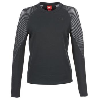 tekstylia Damskie Bluzy Nike TECH FLEECE CREW Czarny