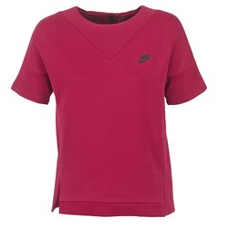 tekstylia Damskie Bluzy Nike TECH FLEECE CREW Bordeaux