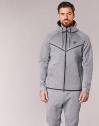 tekstylia Męskie Kurtki krótkie Nike TECH FLEECE WINDRUNNER HOODIE Szary