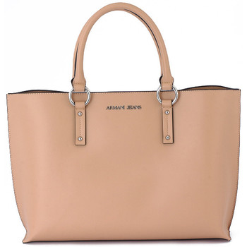 Torby shopper Armani jeans GIORGIO ARMANI SHOPPING BAG BEIGE