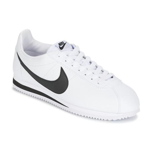 Buty Męskie Trampki niskie Nike CLASSIC CORTEZ LEATHER Biały / Czarny