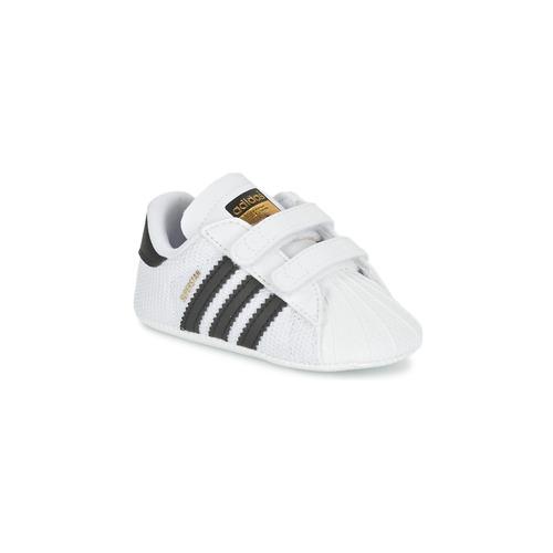 Buty Dziecko Trampki niskie adidas Originals SUPERSTAR CRIB Biały