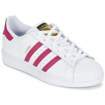 Buty Dziewczynka Trampki niskie adidas Originals SUPERSTAR FOUNDATIO Biały