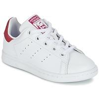 Buty Dziewczynka Trampki niskie adidas Originals STAN SMITH EL C Biały / Różowy