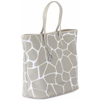 Torby shopper Armani jeans SHOPPING BAG BEIGE