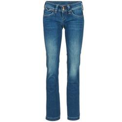 tekstylia Damskie Jeansy straight leg Pepe jeans BANJI Niebieski