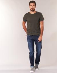 tekstylia Męskie Jeansy straight leg Pepe jeans CASH Niebieski / Fonce