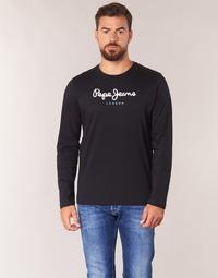 tekstylia Męskie T-shirty z długim rękawem Pepe jeans EGGO LONG Czarny