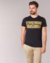 tekstylia Męskie T-shirty z krótkim rękawem Pepe jeans CHARING Czarny
