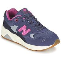 Buty Dziewczynka Trampki niskie New Balance KL580 Fioletowy / Różowy