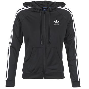 tekstylia Damskie Bluzy dresowe adidas Originals SLIM FZ HOODIE Czarny