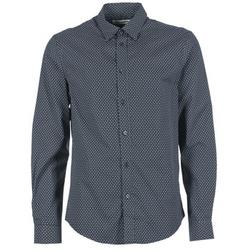 tekstylia Męskie Koszule z długim rękawem Ben Sherman LS MICRO PAISLEY MARINE