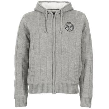 tekstylia Męskie Swetry rozpinane / Kardigany Schott DUNLIN Szary