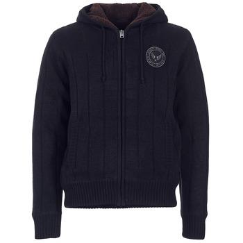 tekstylia Męskie Swetry rozpinane / Kardigany Schott DUNLIN Czarny