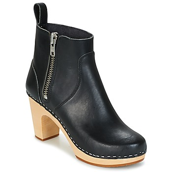 Buty Damskie Botki Swedish hasbeens ZIP IT SUPER HIGH Czarny