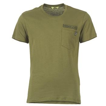 tekstylia Męskie T-shirty z krótkim rękawem Versace Jeans PATCH POCKET TIGER Kaki