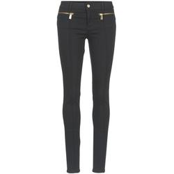 tekstylia Damskie Spodnie z pięcioma kieszeniami Versace Jeans TOLKALA Czarny