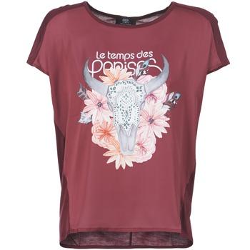 tekstylia Damskie T-shirty z krótkim rękawem Le Temps des Cerises CRANEFLO BORDEAUX