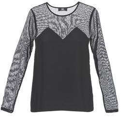 tekstylia Damskie T-shirty z krótkim rękawem Le Temps des Cerises ALANNAH Czarny