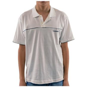 tekstylia Dziecko Koszulki polo z krótkim rękawem Diadora  Biały