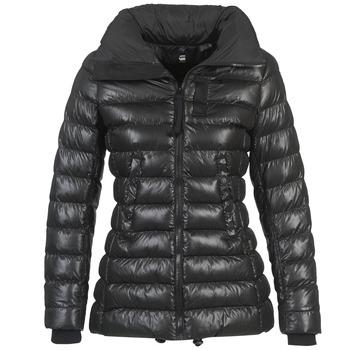 tekstylia Damskie Kurtki pikowane G-Star Raw WHISTLER SLIM COAT Czarny