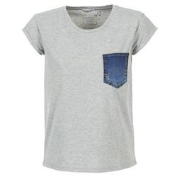 tekstylia Damskie T-shirty z krótkim rękawem Mustang SLV DENIM POCKET Szary