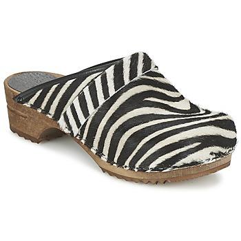 Buty Damskie Chodaki Sanita CAROLINE Zebra