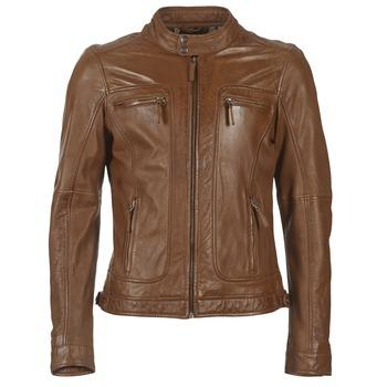 tekstylia Męskie Kurtki skórzane / z imitacji skóry Oakwood 60901 Cognac