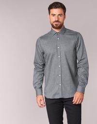 tekstylia Męskie Koszule z długim rękawem Casual Attitude FOLI Szary