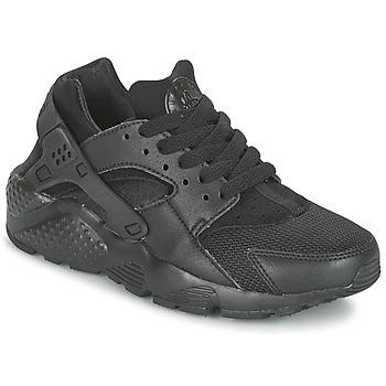 Buty Chłopiec Trampki niskie Nike HUARACHE RUN JUNIOR Czarny