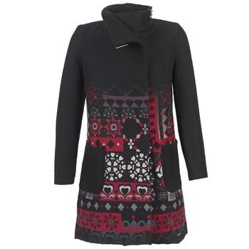 tekstylia Damskie Płaszcze Desigual JEFINITE Czarny / Czerwony