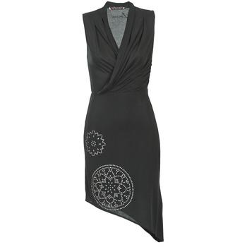 tekstylia Damskie Sukienki krótkie Desigual RAZIANA Czarny