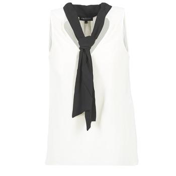 tekstylia Damskie Topy / Bluzki Morgan OREA Biały / Czarny