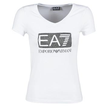 tekstylia Damskie T-shirty z krótkim rękawem Emporio Armani EA7 FOUNAROLA Biały