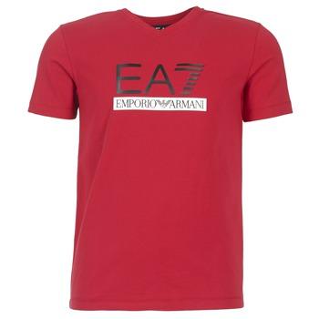 tekstylia Męskie T-shirty z krótkim rękawem Emporio Armani EA7 MOFRAGO Czerwony