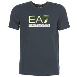 tekstylia Męskie T-shirty z krótkim rękawem Emporio Armani EA7 JANTLOA MARINE