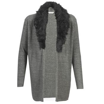 tekstylia Damskie Swetry rozpinane / Kardigany Naf Naf NESTOR Antracyt
