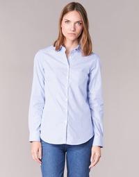 tekstylia Damskie Koszule Casual Attitude FANFAN Biały / Niebieski