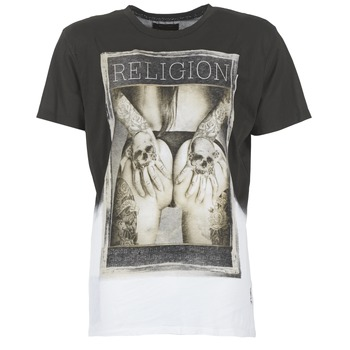 tekstylia Męskie T-shirty z krótkim rękawem Religion GRABBING Biały / Czarny