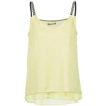 tekstylia Damskie Topy na ramiączkach / T-shirty bez rękawów Les P'tites Bombes BRICCOM Żółty